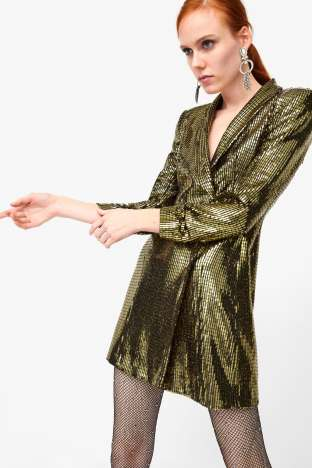 Zara sequins blazer dress