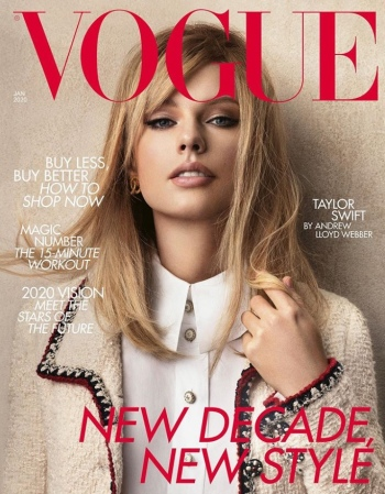 british vogue, taylor swift, jan 2020 british vogue, chanel
