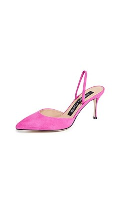 pink shoes, shoe wardrobe, spring 2019 shoe trends, sergio rossi shoes