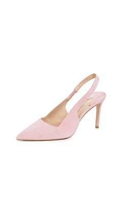 pink shoes, shoe wardrobe, spring 2019 shoe trends, paul andrew shoes